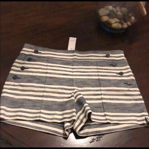 Ann Taylor Shorts - Ann Taylor Loft The Riviera Striped Shorts